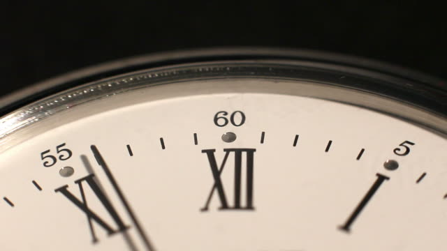 Clock mark the hours. Time passes inexorably video