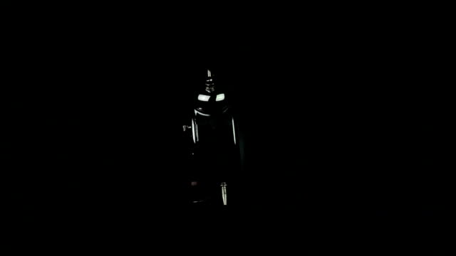 Clock on a black background loop video