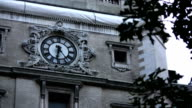 Clock on Building. video