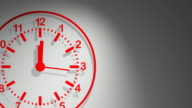 Clock Red 24 Hours video