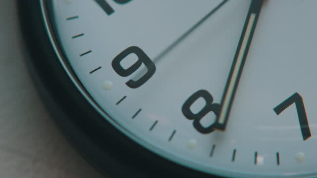 Clock, second hands moving video