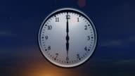 Clock Spinning 24 Hours (Loop) video