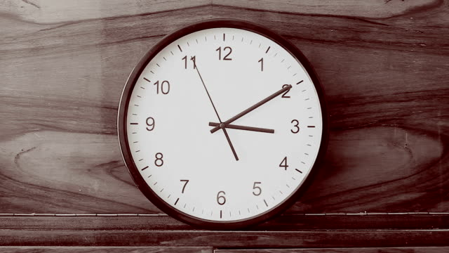 Clock standing on brown furniture video