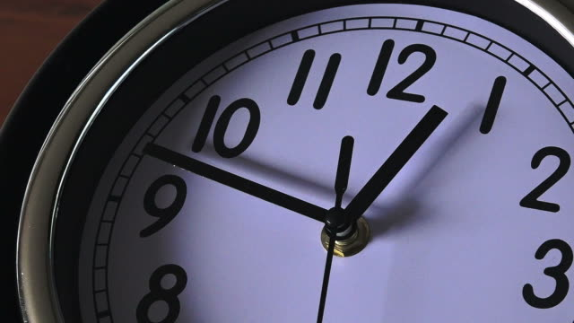 Clock ticking forwards video