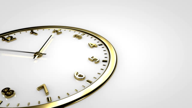 Clock Time Lapse. Gold watch. video