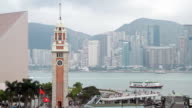 Clock Tower and Victoria Harbour video
