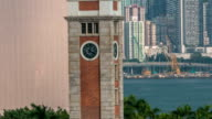 Clock Tower on the waterfront Kowloon timelapse hyperlapse video