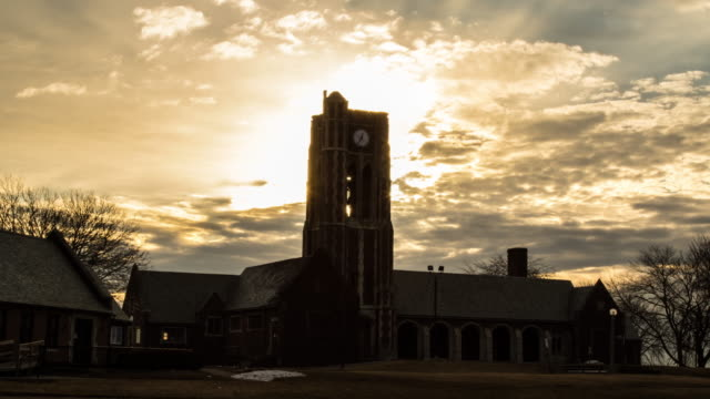 Clock Tower Sunrise Time Lapse video