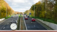 Clock traffic and rush hour time lapse video