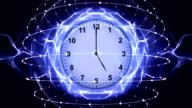 Clocks, Time Travel Concept in Fibers Ring, Rendering, Animation, Background, Loop video