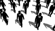 Cloned Businessmen Walking video