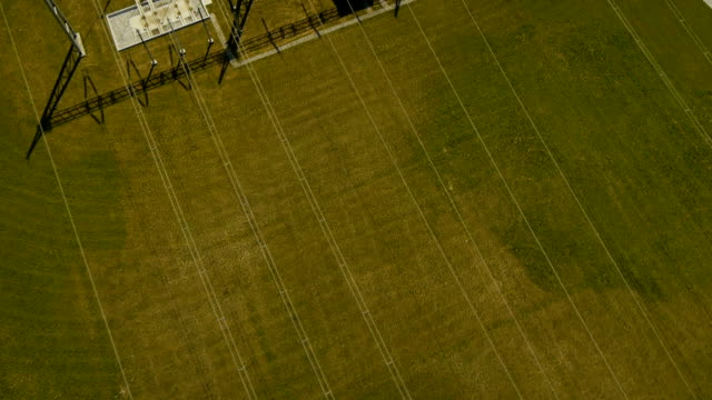 Close detail Aerial view on Electric Substation video