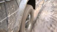 close shot of 4x4 wheel driving video