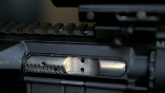 Close Shot of Shell Falling Out of Gun video