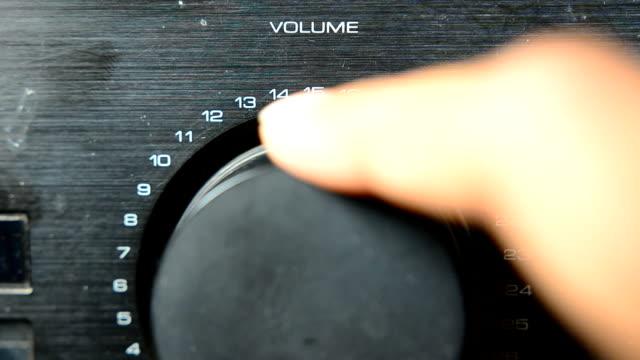 close up :Amplifier button video