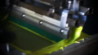Close Up Automated Silk Screening Machine video