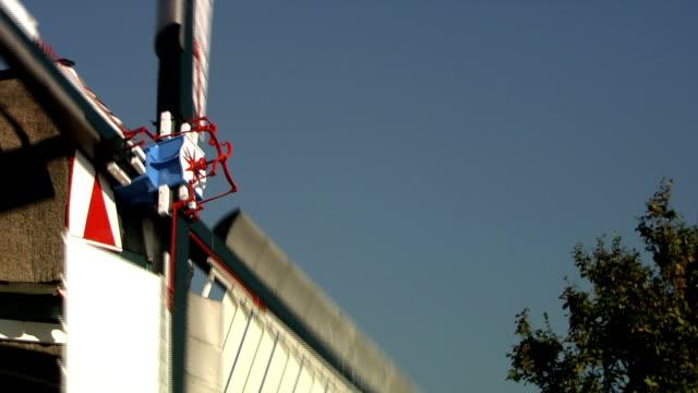 Close up blades windmill video