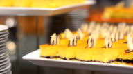 close up : cake and plate video