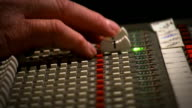 Close up Engineer mixing console recording studio video