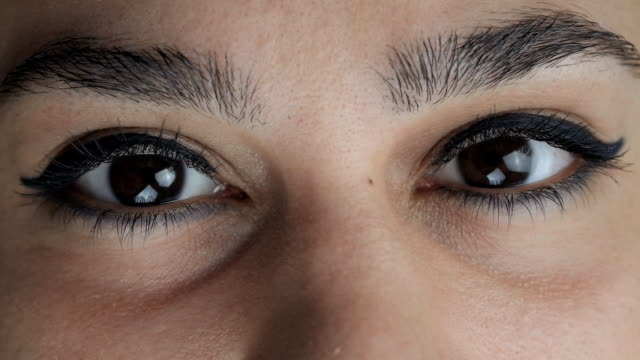 Close up eyes of an Arab woman video