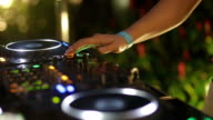 Close up hand of Dj Decks/Turntable at Disco Party Nightclub video