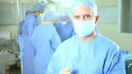 Close Up Hospital Surgeon Medical Team Background video