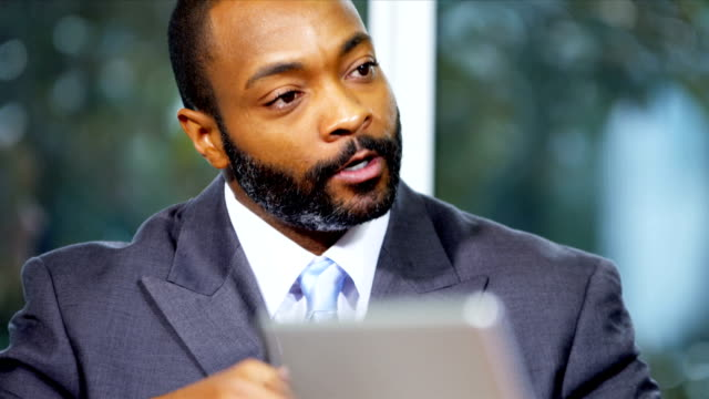 Close Up Male African American Marketing Executive video