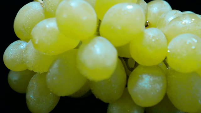 Close up of a bunch of grapes video