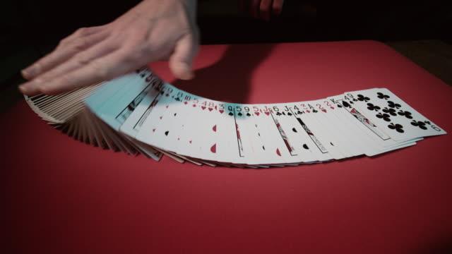 Close up of a card trick video