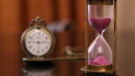 Close up of a hourglass video
