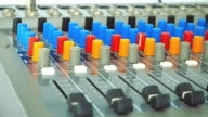 Close Up of A Man Working on Mixing Control Panel video