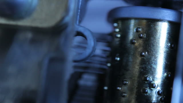 Close up of a musical box video