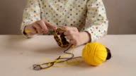 Close up of a woman crocheting video