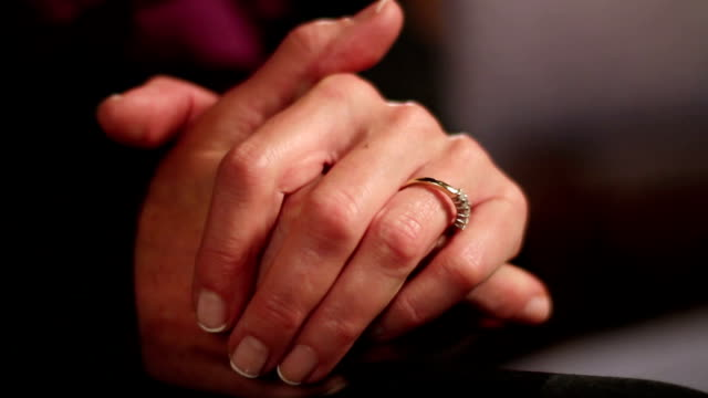 Close up of a woman's hands video