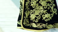 Close up of Albanian traditional clothes video