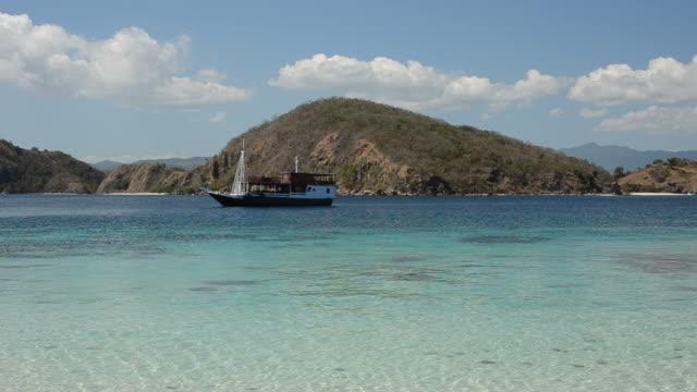 Close up of an anchored boat near Komodo video