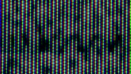 Close up of analog TV CRT kinescope noise – b&w video