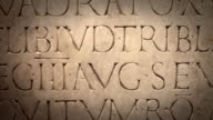 Close Up of Ancient Roman Latin Script video