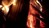 Close up of blazing fire video