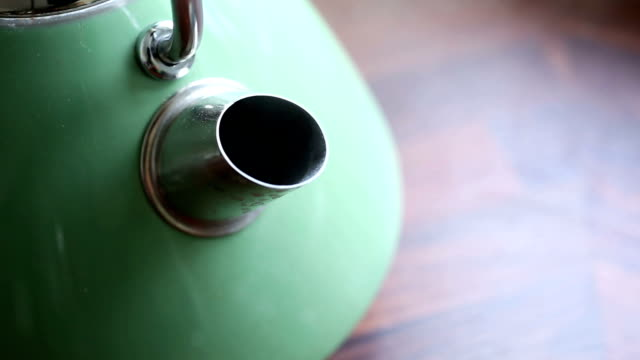 Close up of boiling kettle spout video