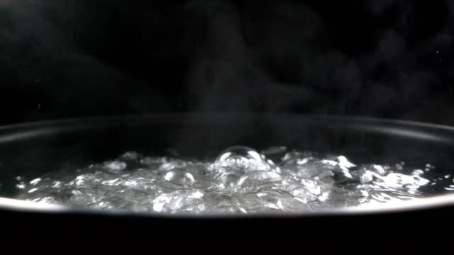 Close up of Boiling water bubble video