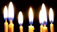 Close up of candles on dark video