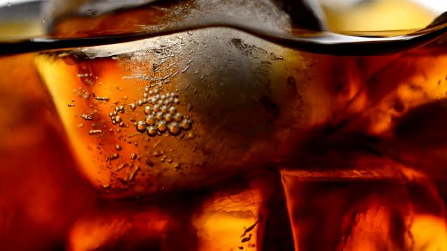 Close up of Cola bubbles video