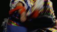 Close up of dancing woman's dress video