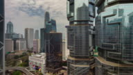 close up of day light city block buildings 4k time lapse from hong kong video