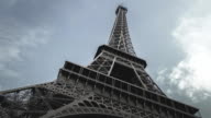 Close up of Eiffel tower - Stock Video video