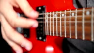 Close Up of Electric Guitar String Vibration video