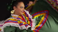 Close up of face of dancing woman video