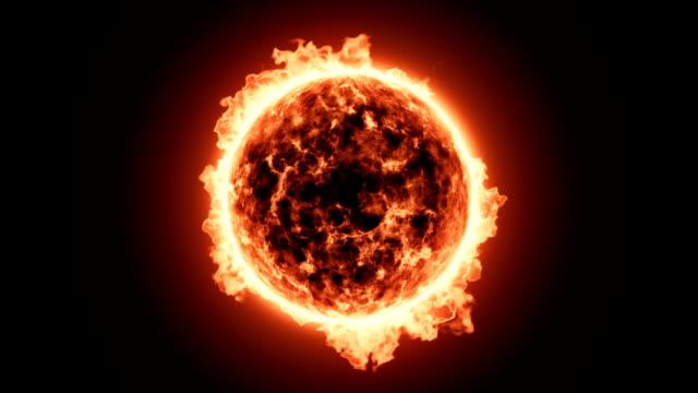 Close up of Fiery sun video