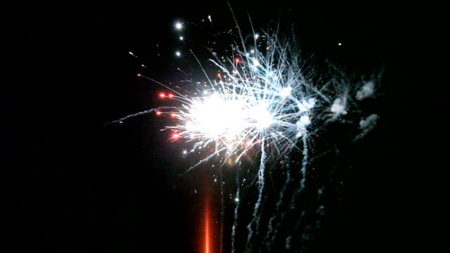 close up of fireworks wedding video